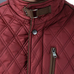 Adil Coat // Burgundy (Small)