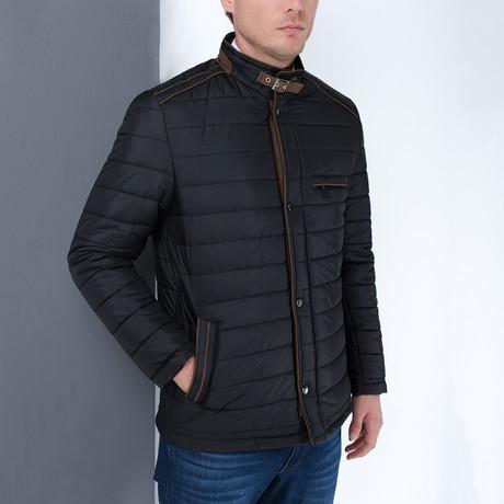 Francis Slim Fit Coat // Black (Small)