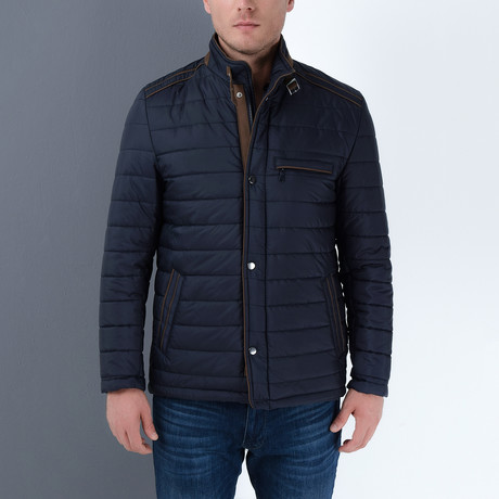 John Slim Fit Coat // Dark Blue (Small)