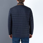 John Slim Fit Coat // Dark Blue (2X-Large)