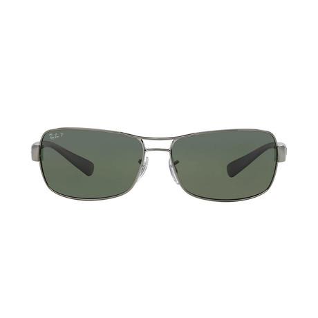 Ray-Ban // Unisex Metal Rb3479 Navigator Sunglasses // Gunmetal Black + Polarized Green