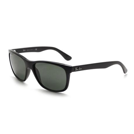 Unisex Injected Acetate Square Sunglasses // Black