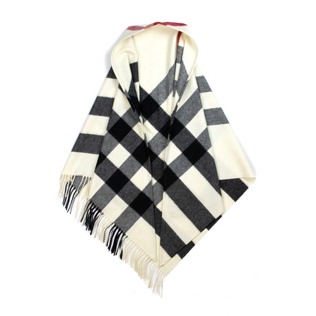 Burberry // Check Cashmere Bandana // Cream