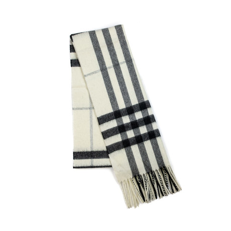 Burberry // Check Cashmere Scarf // Beige