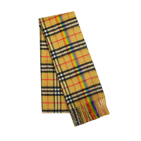 Burberry // Vintage Check Scarf // Brown + Rainbow