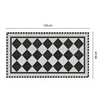 Black Victorian Tile Design Mat