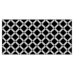 Modern Geometric Stencil Pattern Rug Mat