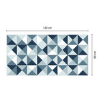 Abstract Geometric Pattern Ash Color Palette Rug Mat