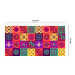Colourful Mandala Tiles Rug Mat