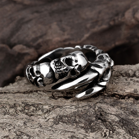 Skull + Claw Wrap Ring (8)