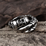 Skull + Claw Wrap Ring (9)
