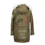 Women's Sorry, Not Sorry // Military Green (XS)