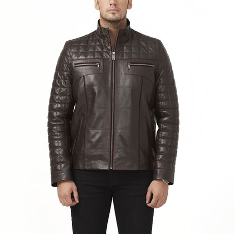 Superior Leather Jacket // Brown (XS)
