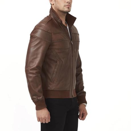 Urmia Leather Jacket // Brown (XS)