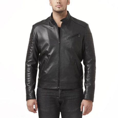 Victoria Leather Jacket // Black (XS)