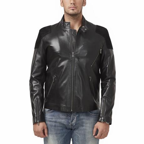Huron Leather Jacket // Black (XS)