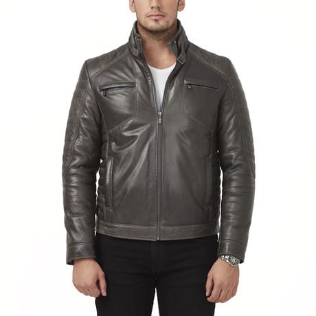 Kariba Leather Jacket // Brown (XS)