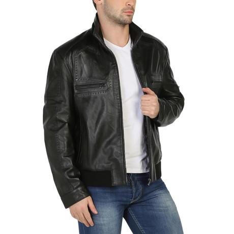 Ladoga Leather Jacket // Black (XS)