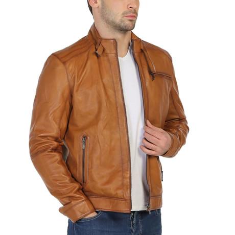 Nasser Leather Jacket // Tobacco (XS)