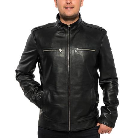 Hula Leather Jacket // Black (XS)