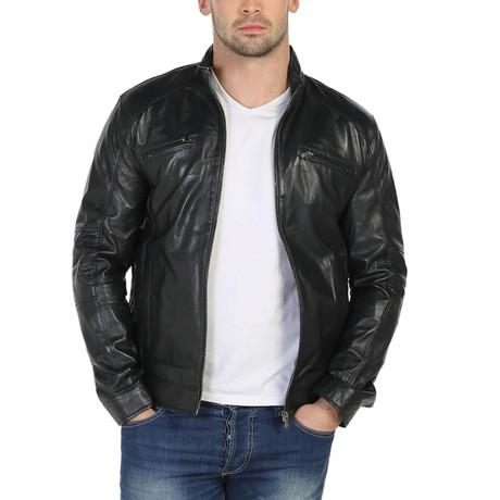 Erie Leather Jacket // Black (XS)
