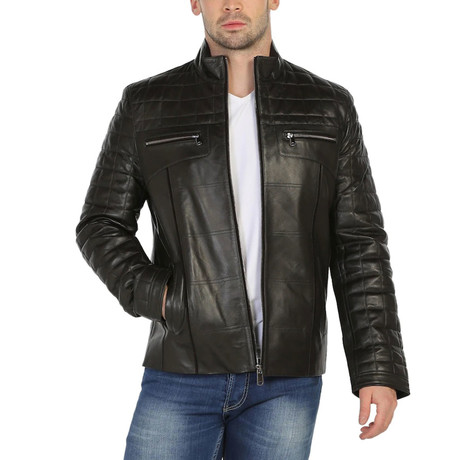 Michigan Leather Jacket // Black (XS)