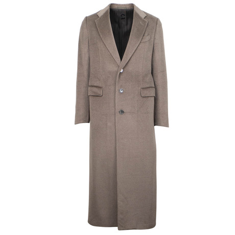 Caruso // Baby Lama Wool Blend Overcoat // Brown (Euro: 48)