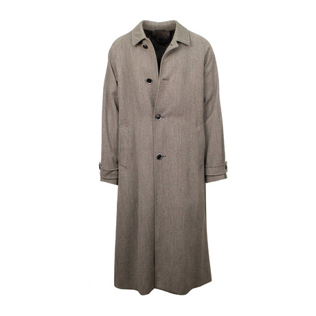 Caruso // Wool Long Overcoat // Gray (Euro: 48)