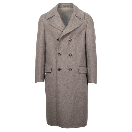 Caruso // Wool Double Breasted Overcoat // Brown (Euro: 48)