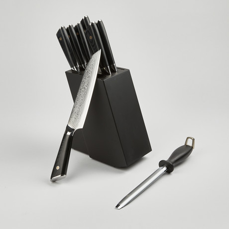 Kitchen Knives Set of 8 - Rain Drop