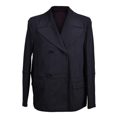 Versace Collection V1 // Double Breasted Jacket // Black (Euro: 46)