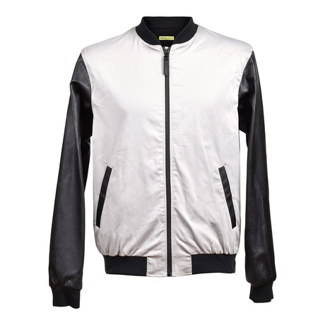 Versace Jeans // Back Logo Bomber // Black + White (Euro: 46)