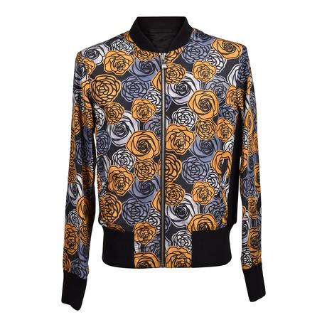 Versace // Floral Jacket // Black + Yellow (Euro: 46)