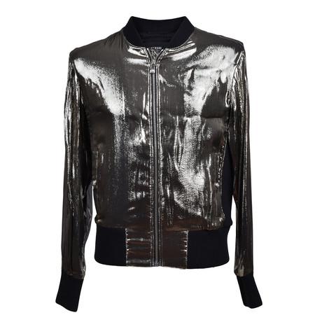 Versace // Zip-Up Jacket // Metallic Gray (Euro: 46)