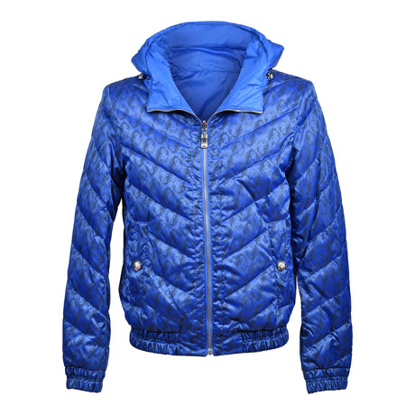 Versace // Puffer Jacket // Royal Blue (Euro: 46)