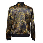Versace Jeans // Steampunk Bomber // Black + Gold (Euro: 48)