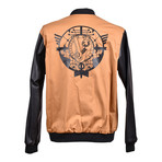 Versace Jeans // Back Logo Bomber // Black + Tan (Euro: 50)