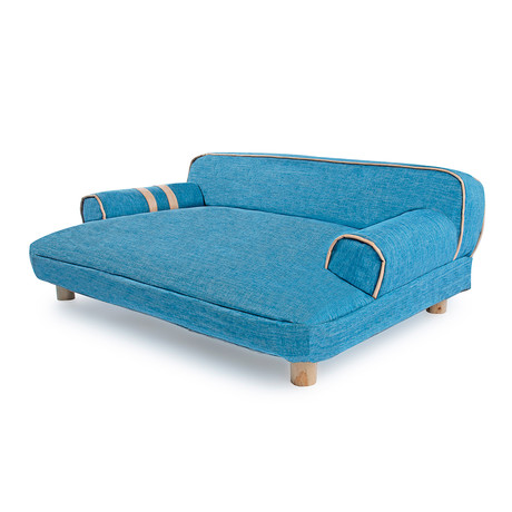 Dog Sofa Bed // Wickerman // Blue