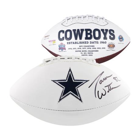 Jason Witten // Dallas Cowboys White Panel Football