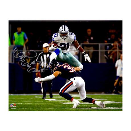 """Ezekiel Elliott // Dallas Cowboys 16"""" x 20"""" Leaping Photograph"""