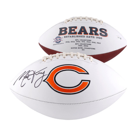Mitchell Trubisky // Chicago Bears White Panel Football