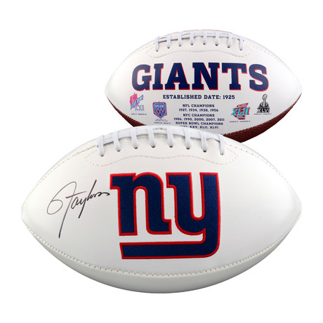 Lawrence Taylor // New York Giants White Panel Football