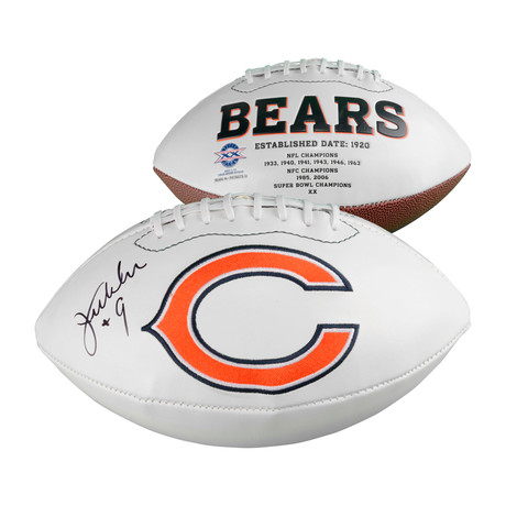 Jim McMahon // Chicago Bears White Panel Football