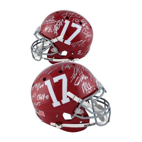 Signed Dynasty Pro-Line Helmet + 21 Signatures // Alabama Crimson Tide