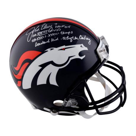 John Elway // Denver Broncos Riddell Pro-Line Helmet + Inscriptions // Limited Edition of 24