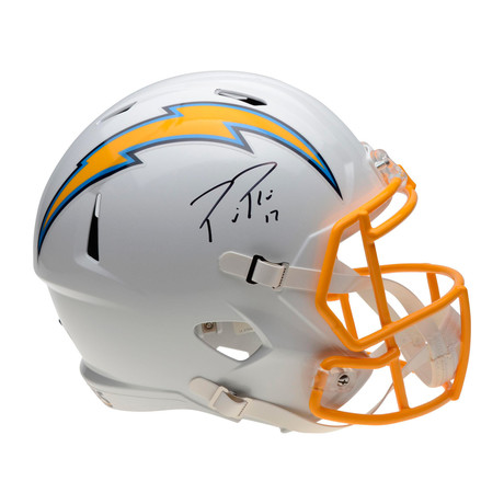 Philip Rivers // Los Angeles Chargers Riddell Current Speed Replica Helmet with Yellow Facemask