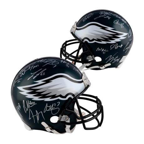 Philadelphia Eagles Super Bowl LII Champions Riddell Pro-Line Helmet + Signatures