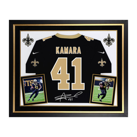 Alvin Kamara // New Orleans Saints Deluxe Nike Black Game Jersey