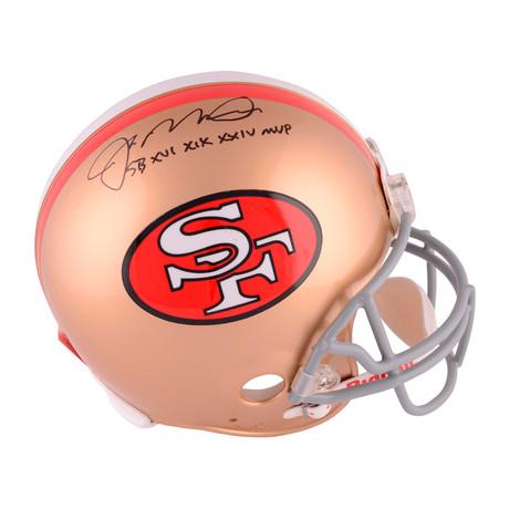 "Joe Montana // SF 49ers Throwback Pro Line Helmet + ""SB MVP"" Inscription"