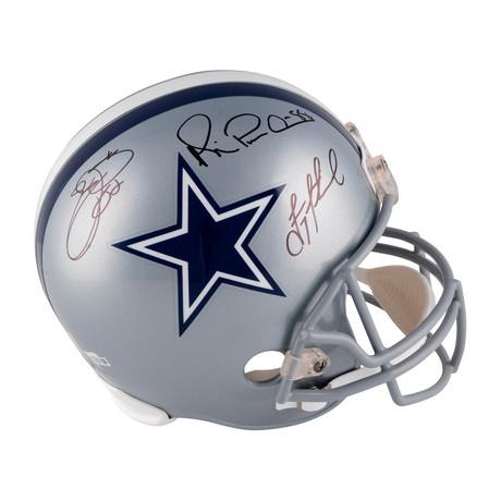 Troy Aikman, Emmitt Smith, + Michael Irvin // Dallas Cowboys Riddell Replica Helmet